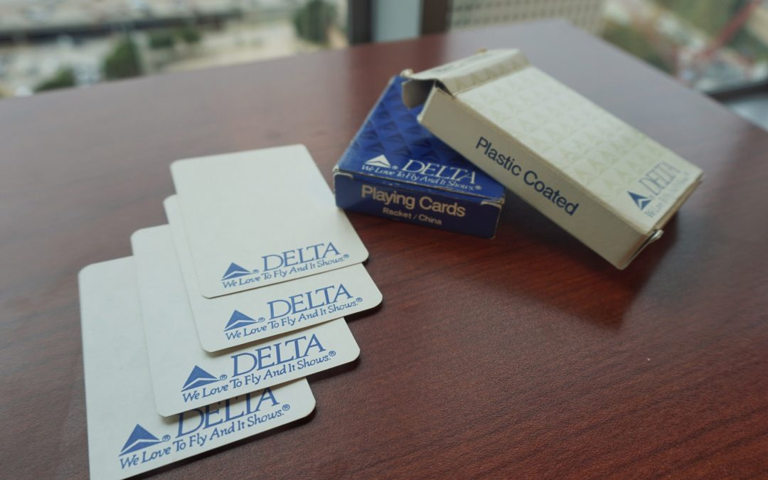 Giveaway: Vintage Delta Airlines Playing Cards
