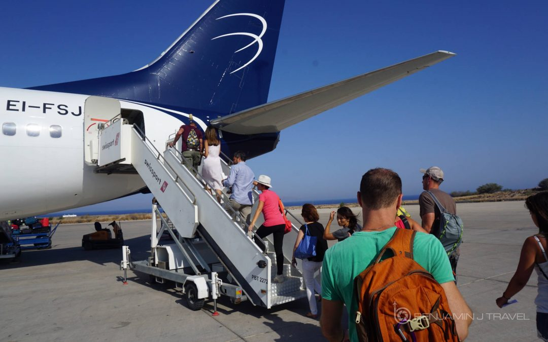 Trip Report: Reviewing Blu Express | Santorini to Rome Blog Review Airline Review