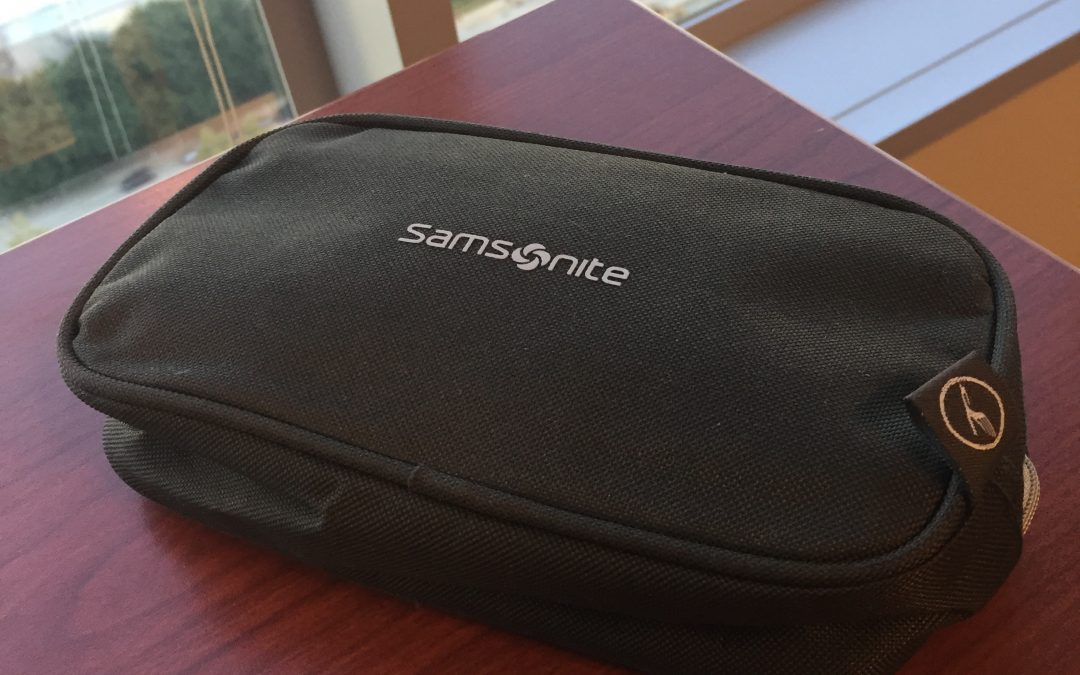 Giveaway: Lufthansa Business Class Amenity Kit Samsonite