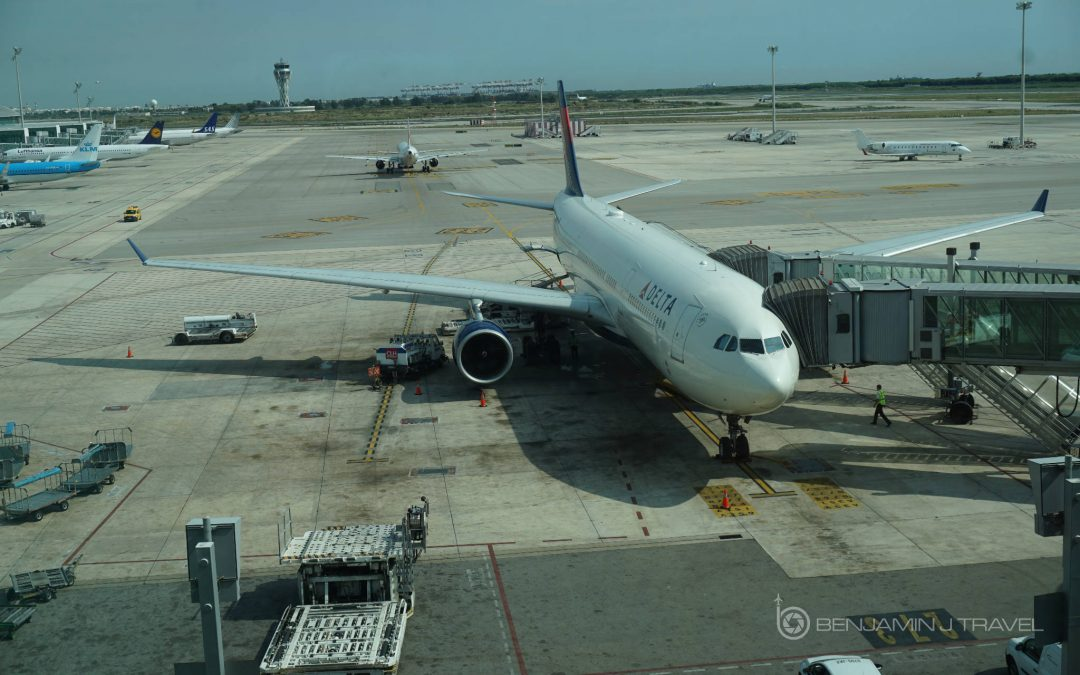 Delta A330-300 on Tarmac at Barcelona El Part Airport Economy Class Review Delta Announces New Service From New York JFK to Lagos, Nigeria