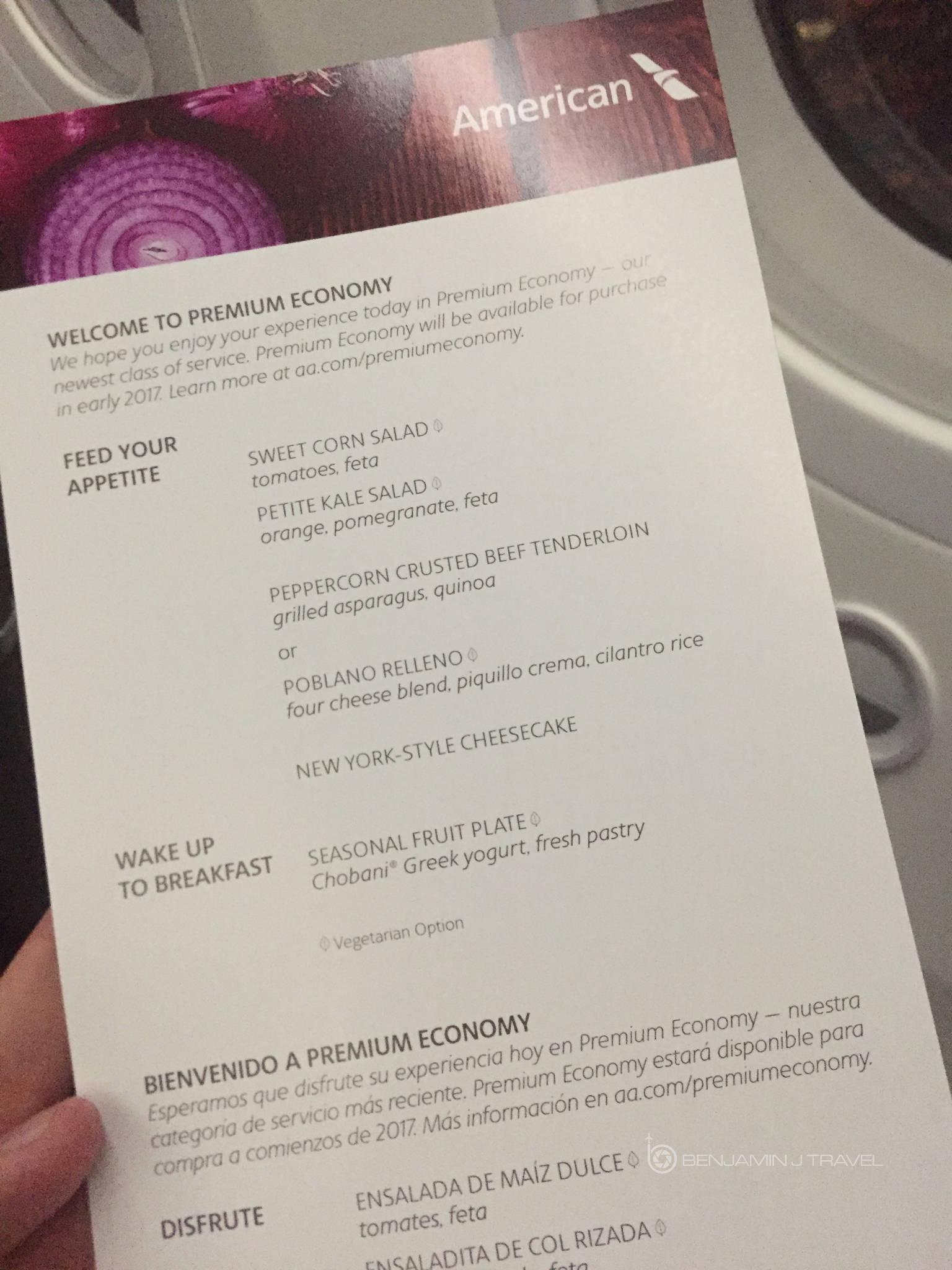 Mini Review Aa 787 9 Premium Economy Dfw To Madrid
