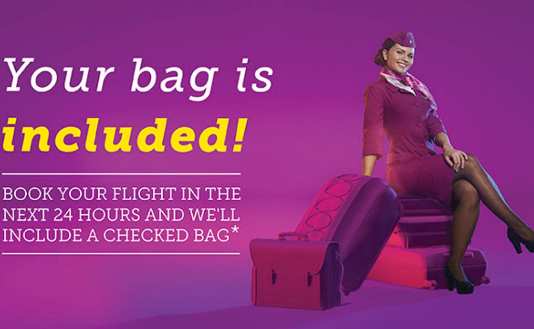24 Hour Promotion: Free Checked Bag on WOW Air to Iceland