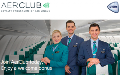 Join Aer Club, Aer Lingus' New Loyalty Program, and Earn 250 Bonus Avios