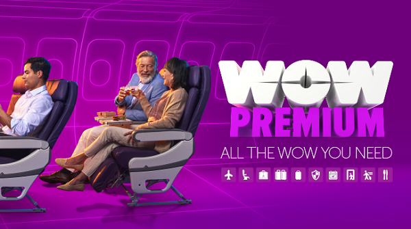 "WOW Air Introduces WOW Premium ""Big Seat"""